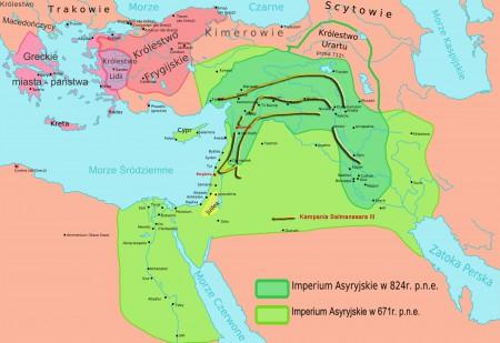 Mapa_Asyrii kampania salmanasaraIII