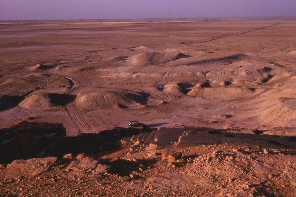 Tak wyglądał ziggurat  i jego okolica w 1970 roku. Źródło