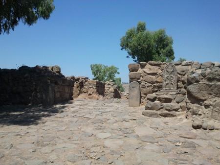 Betsaida, widok na bramę Źródło