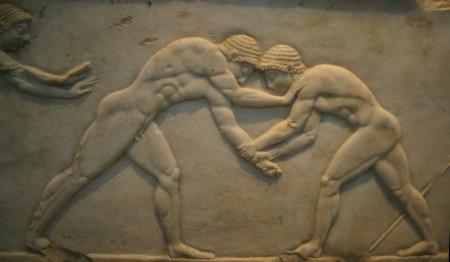 Zapasy starożytne. Źródło