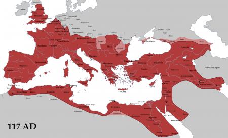 Granica Imperium Rzymskiego w pierwszej połowie II w n.e. źródło