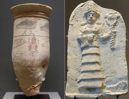 Wizerunki naszej bohaterki bez i z ubraniem. II tyś p.n.e. źródło 1 i 2