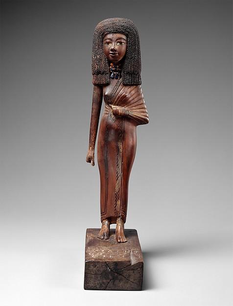 Egipcjanka. rzeźba jest datowana na XIV w p.n.e. Źródło