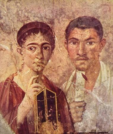 Mąż i żona sportretowani w I w. n.e. w Pompejach. Źródło