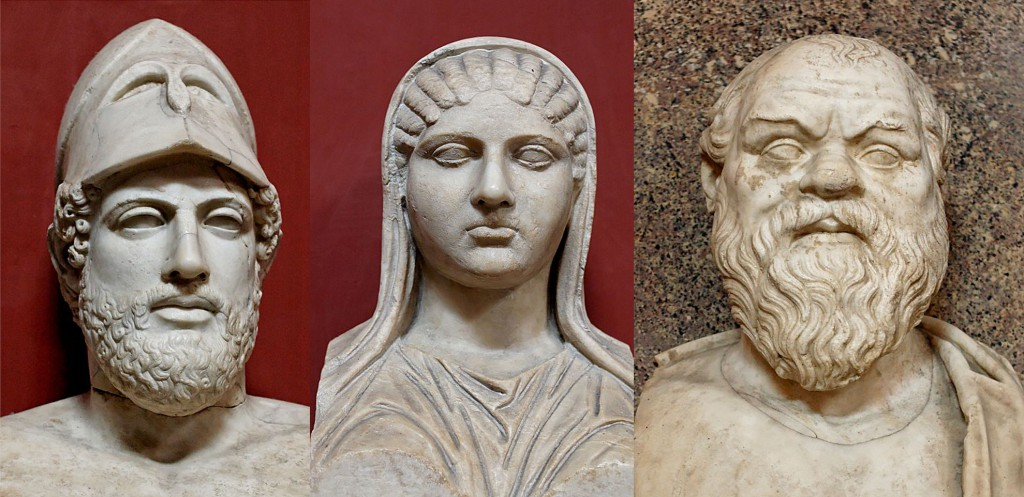Perykles, Aspazja, Sokrates Żródło 1; 2; 3