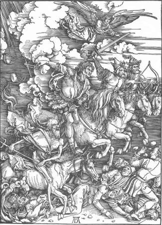 Albrecht Dürer Czterej Jeźdźcy Apokalipsy. Źródło