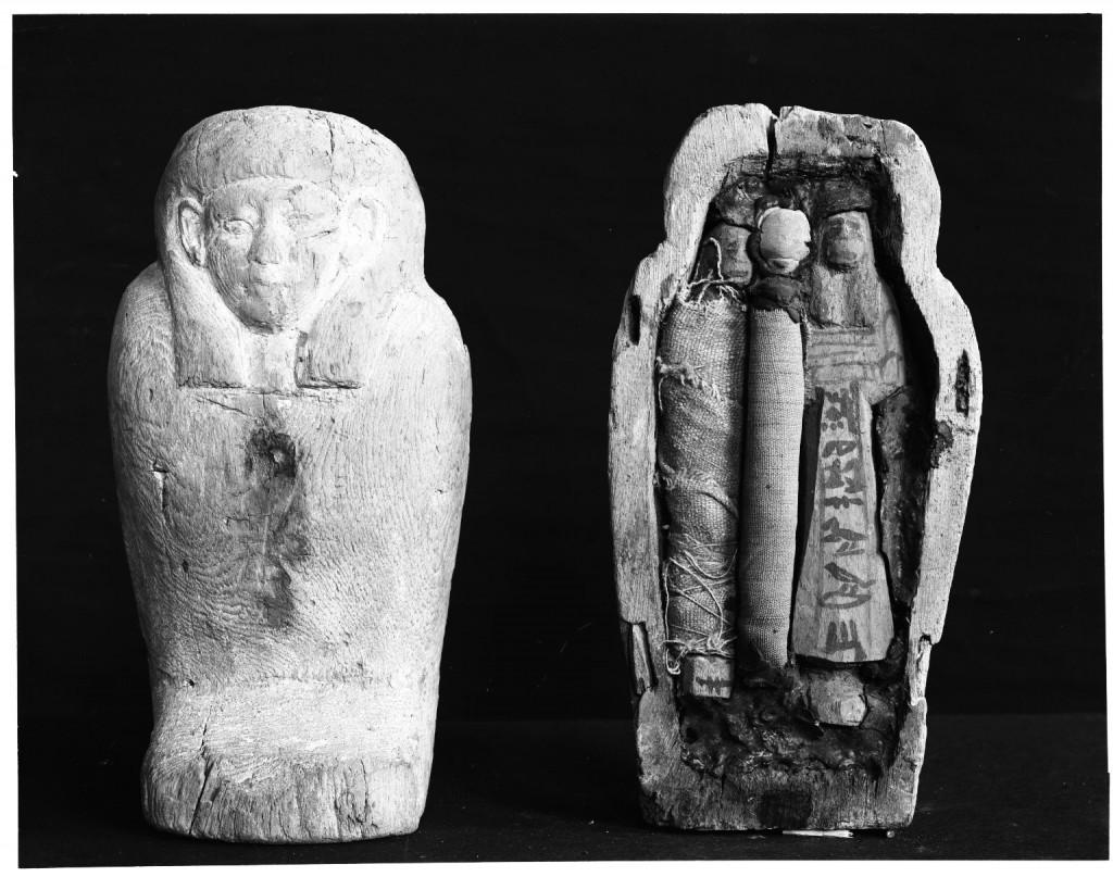 Ta trumienka z uszebti pochodzi z przelomu XI i X w p.n.e. z możecie ją oglądać w Brooklyn Museum