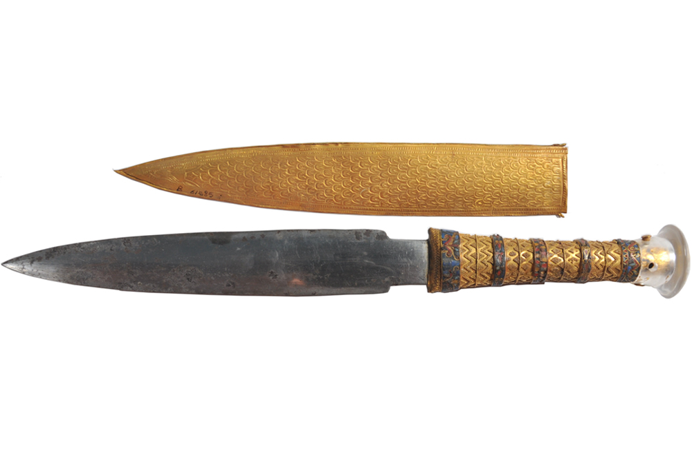 Sztylet Tutanchamona żelaza meteorytowego (Carter no. 256K, JE 61585). Źródło
