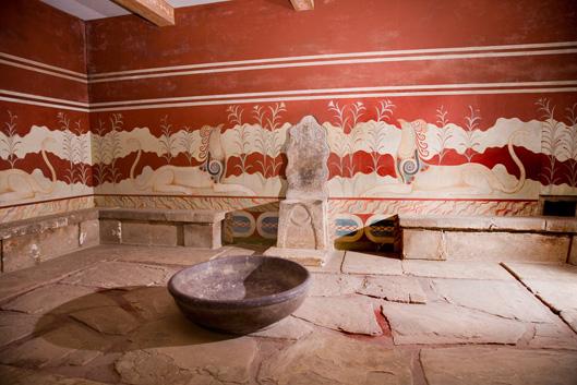 Gryfy zdobią salę tronową pałacu w Knossos -XV w p.n.e. Żródło